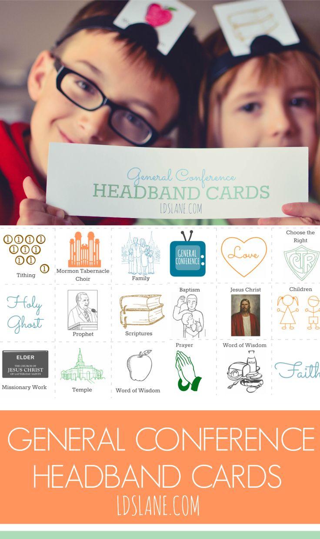 General Conference Headband Cards ldslane.com