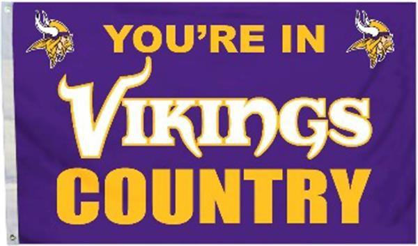 BSI NFL Minnesota Vikings Country 3' x 5' Flag