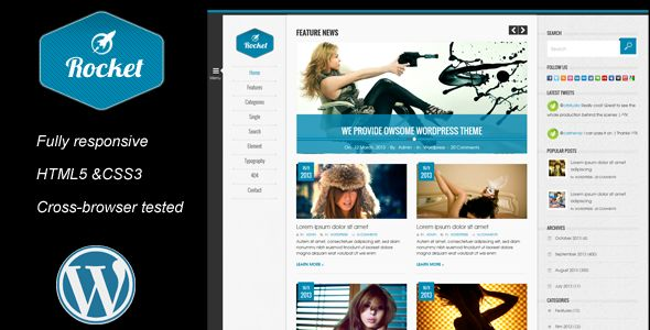 Rocket News is a Responsive WordPress Magazine The (Blog / Magazine)