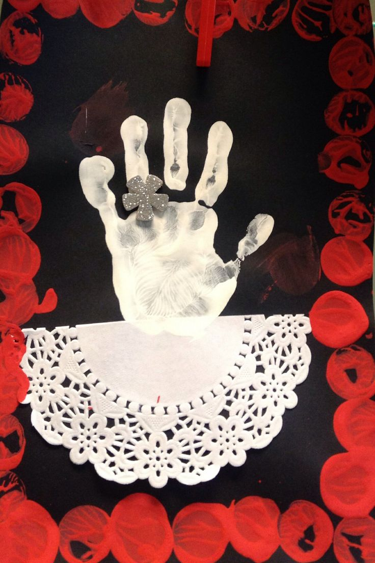 De hand van Sinterklaas...