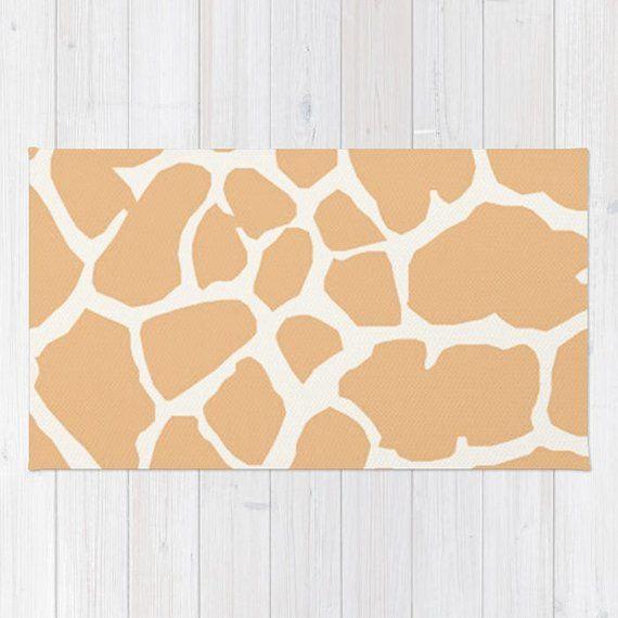 Giraffe Print Area Rug Giraffe Nursery Rug Giraffe Gifts Living
