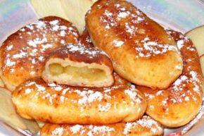 Пирожки с яблоками из творожного теста на сковороде