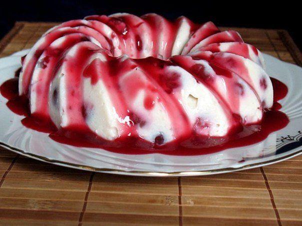 Raspberry pudding!