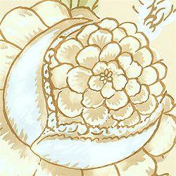 обои бежево-коричневые с растительным орнаментом T6750 Cream Thibaut