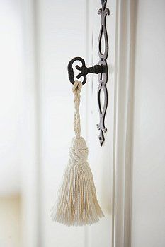 Key tassels - love them! For the desks, wardrobes ...