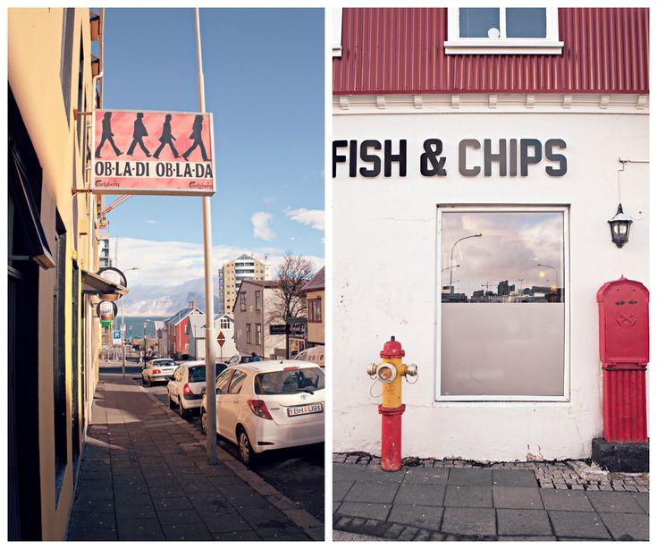 Исландия цветные уличные знаки