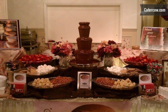 Chocolate Fountain Caramel Apple Station Cheese