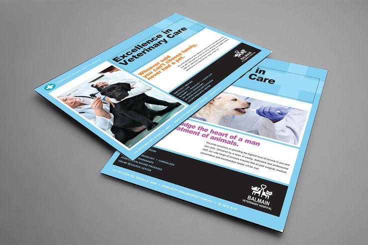 Marketing materials for Balmain Veterinaty Hospital