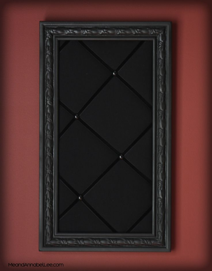 DIY Upholstered Gothic Memo Board – Black Victorian Pin Board – Goth Home Decor