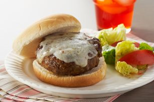 Four-Cheese Skillet Burgers