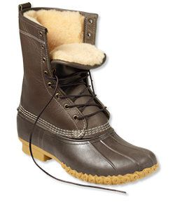 "#LLBean: Men's Bean Boots by L.L.Bean, 10"" Shearling-Lined"