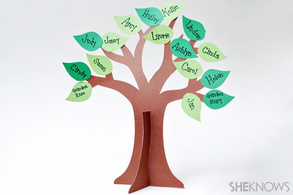 Crafts Made From Construction Paper   ... construction paper craft is a fun and unique way to make a family tree