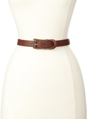 Nine West Women's Equestrian Buckle Leather Belt, Brown, Large - http://todays-shopping.xyz/2016/06/11/nine-west-womens-equestrian-buckle-leather-belt-brown-large/