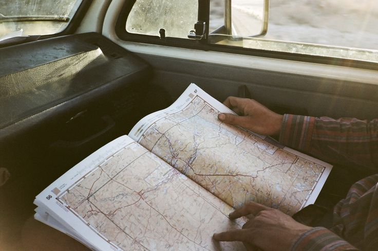 On the road / map.