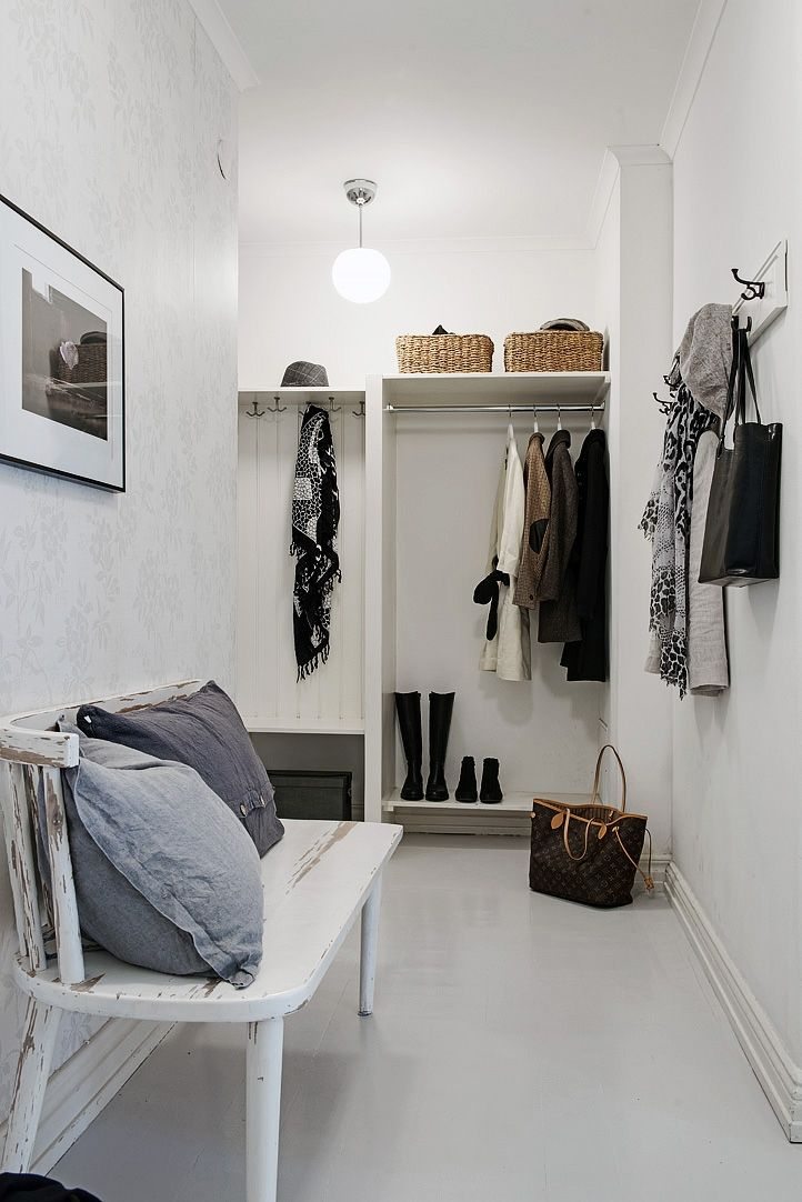 Znalezione obrazy dla zapytania styl skandynawski korytarz