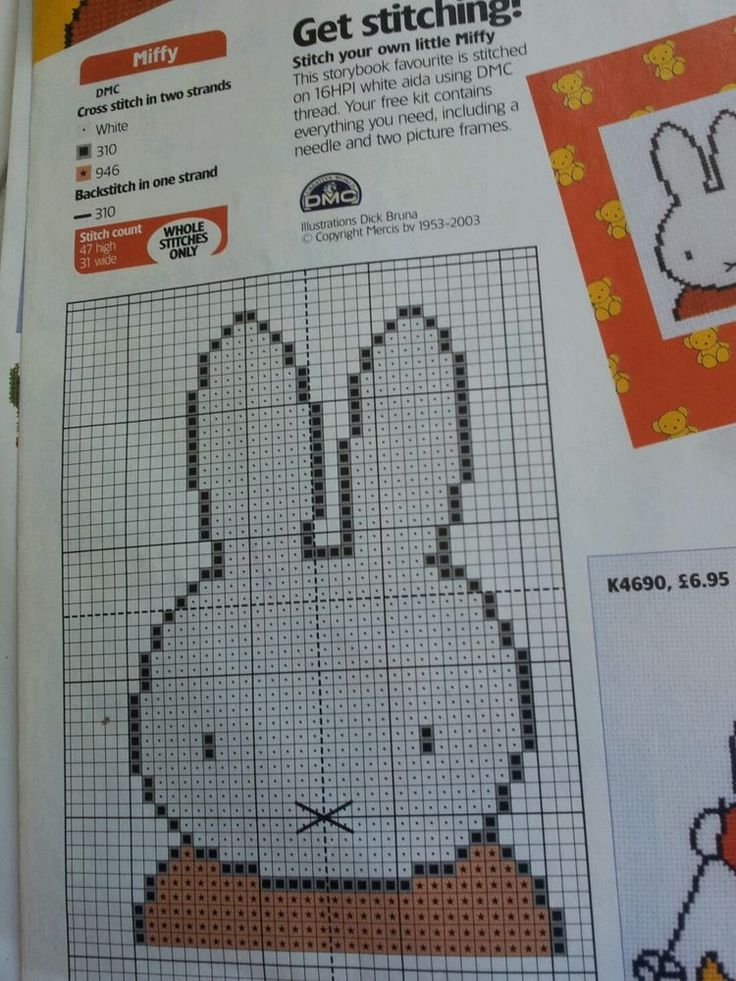 cross stitch chart Miffy