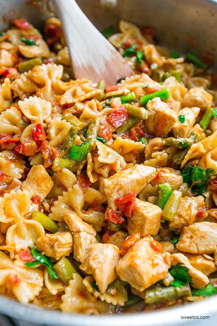 Healthy bruschetta chicken pasta recipe