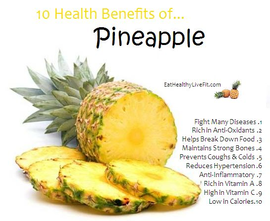 The Health Benefits of Pineapples | Eating Healthy & Living Fit