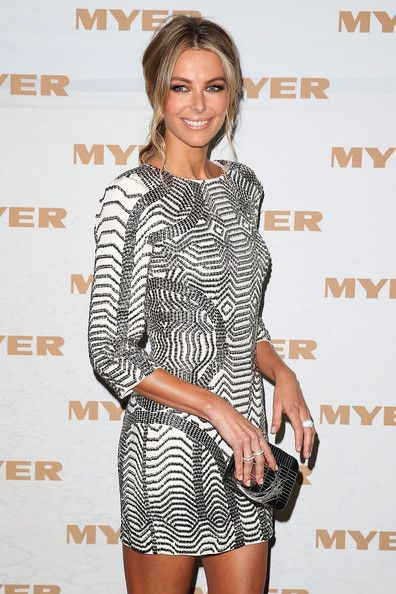 Jennifer Hawkins - Myer Runway Show - cokctail dress