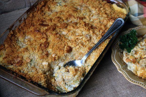 Cheesy Corn and Green Bean Cassarole