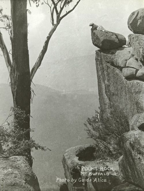 Pulpit Rock, Mt. Buffalo, Victoria, Australia, ca. 1900, Alice Manfield