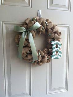 Wreath for baby boy Cummings room