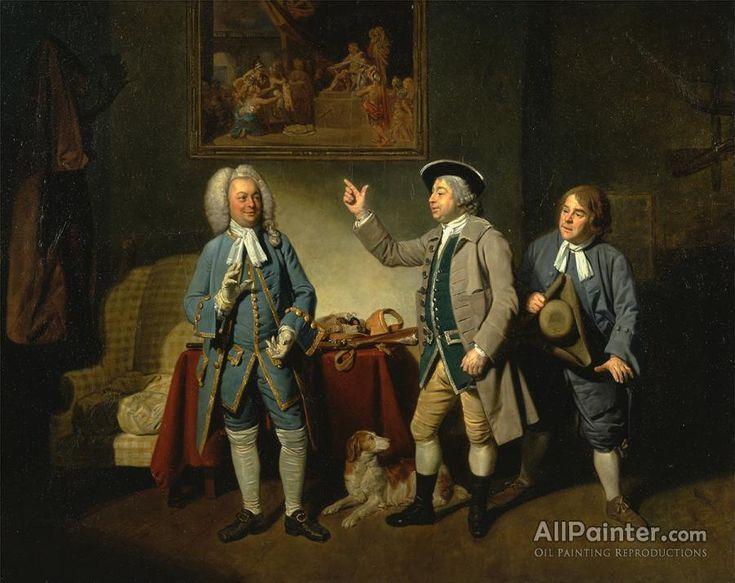 Johan Joseph Zoffany Edward Shuter, John Beard, And John Dunstall In Isaac Bickerstaffe's,love In A Village oil painting reproductions for sale