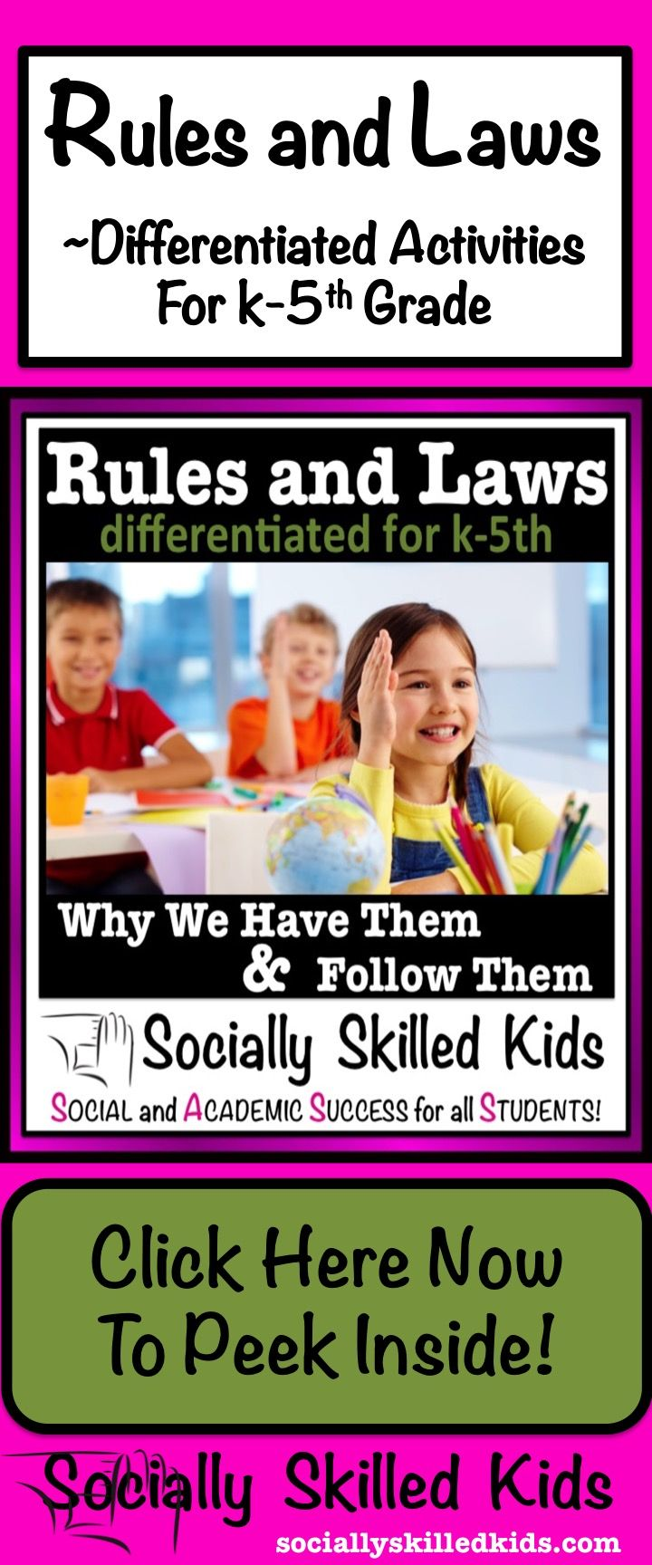 Rules and Laws: Why we have them and follow them. Differentiated activities to help children learn the benefits to having rules and laws.