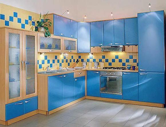 голубые кухни