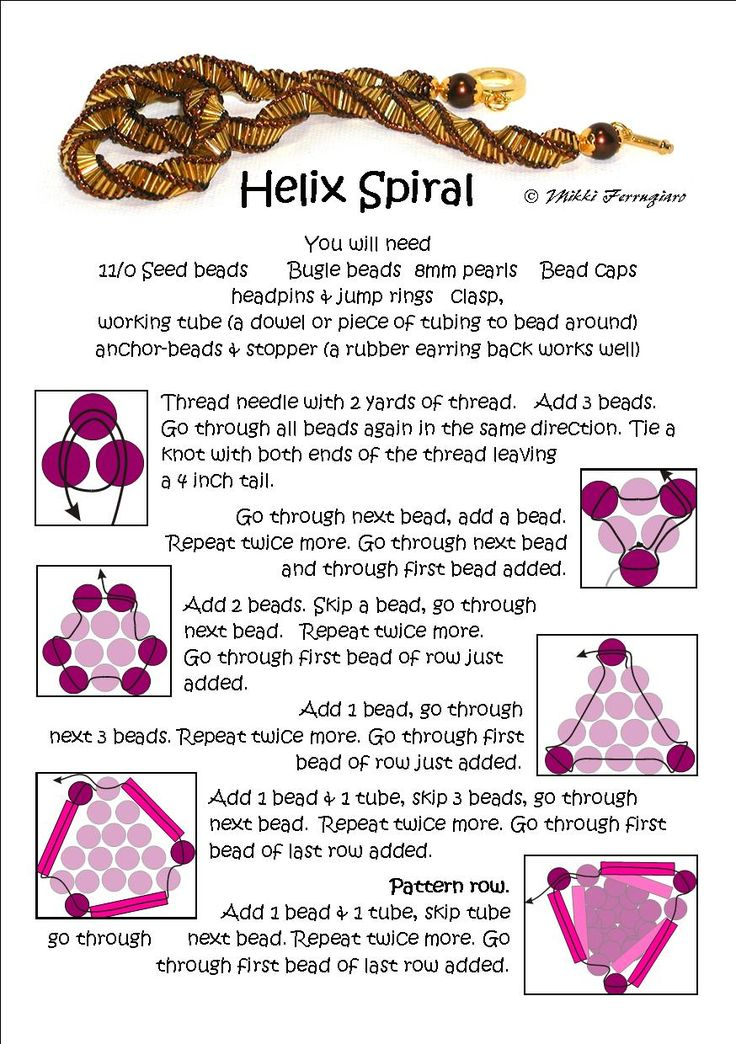 Bead Mavens - Helix Spiral with bugle Beads.  #Seed #Bead #Tutorials