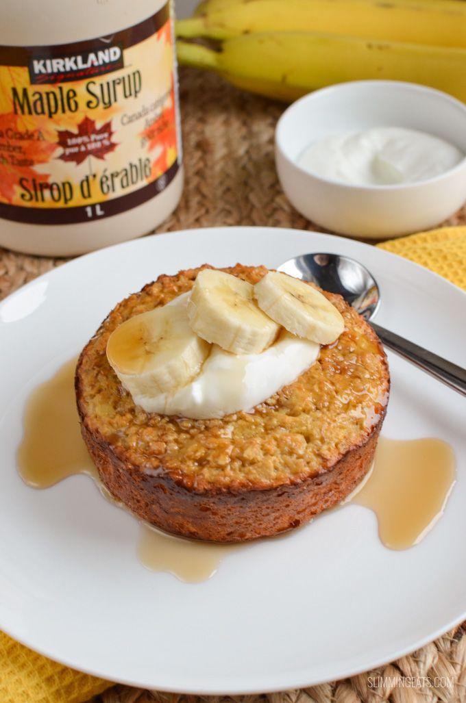 Slimming Eats Banana Baked Oatmeal - gluten free, vegetarian, Slimming World and Weight Watchers friendly