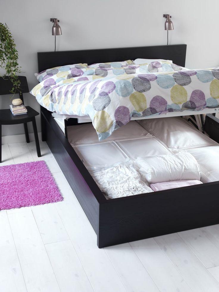 Lit malm d 39 ikea chambres pinterest malm ikea et for Ikea critique de lit de stockage de malm