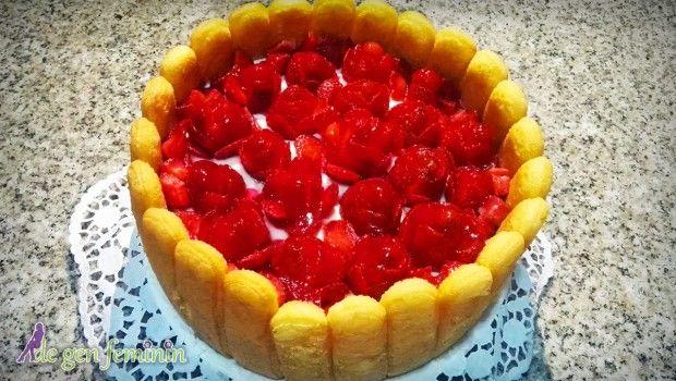 Rețetă video de tort diplomat cu căpșuni
