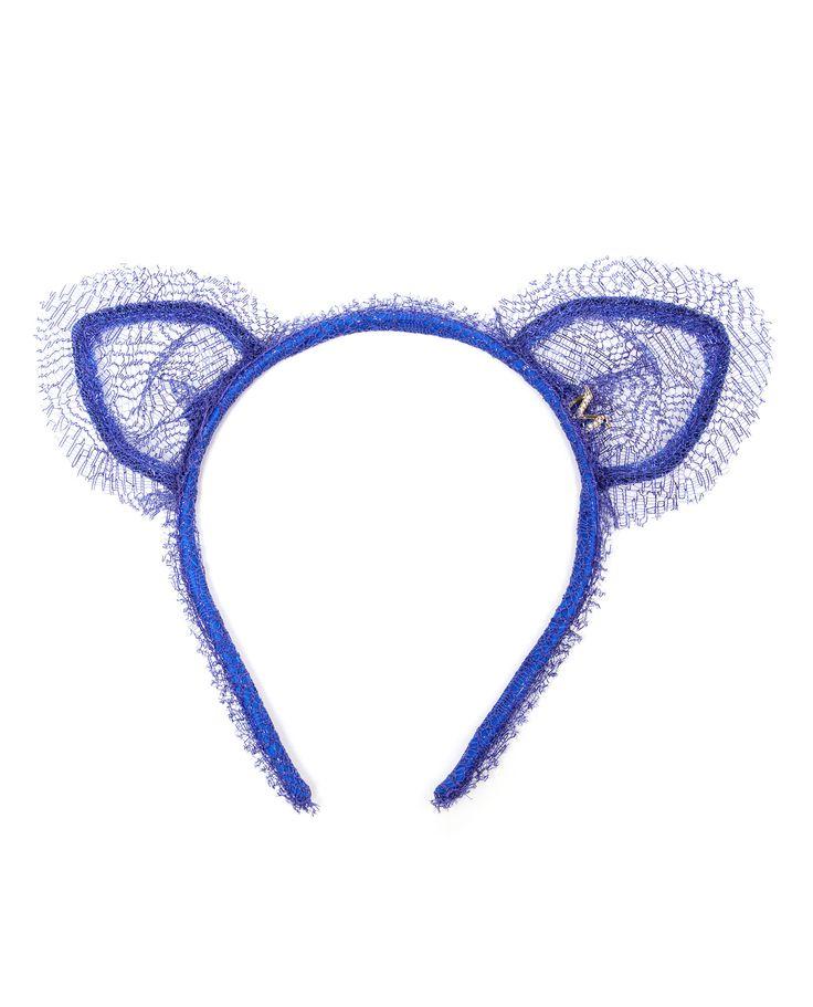 MAISON MICHEL | 'Heidi' Lace Cat-ear Headband | Browns fashion & designer clothes & clothing