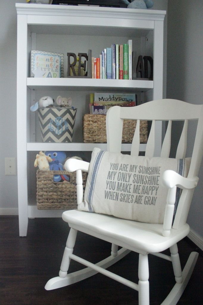 We love mini-furniture for the littles! #nursery #rockingchair