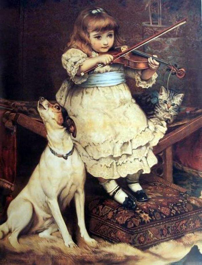 Днем рождения, картинки декупаж дети в живописи