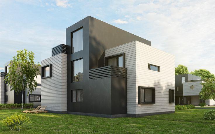 Kataloghus U- 590 kubisk bolig over tre plan! #contemporary#moderne#living#flat#slope#functionalistic#inspired#drømmehus#flat#tomt#funkisinspirert#kubistisk
