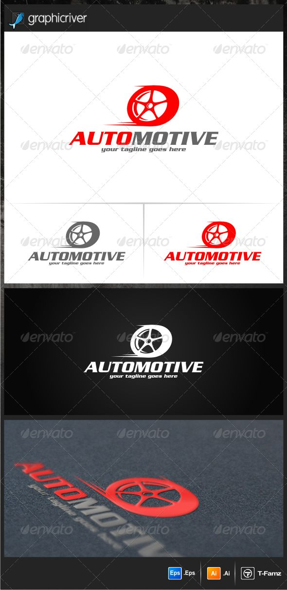 Automotive Logo Templates — Vector EPS #automotive #tire logo • Available here → https://graphicriver.net/item/automotive-logo-templates/6914622?ref=pxcr
