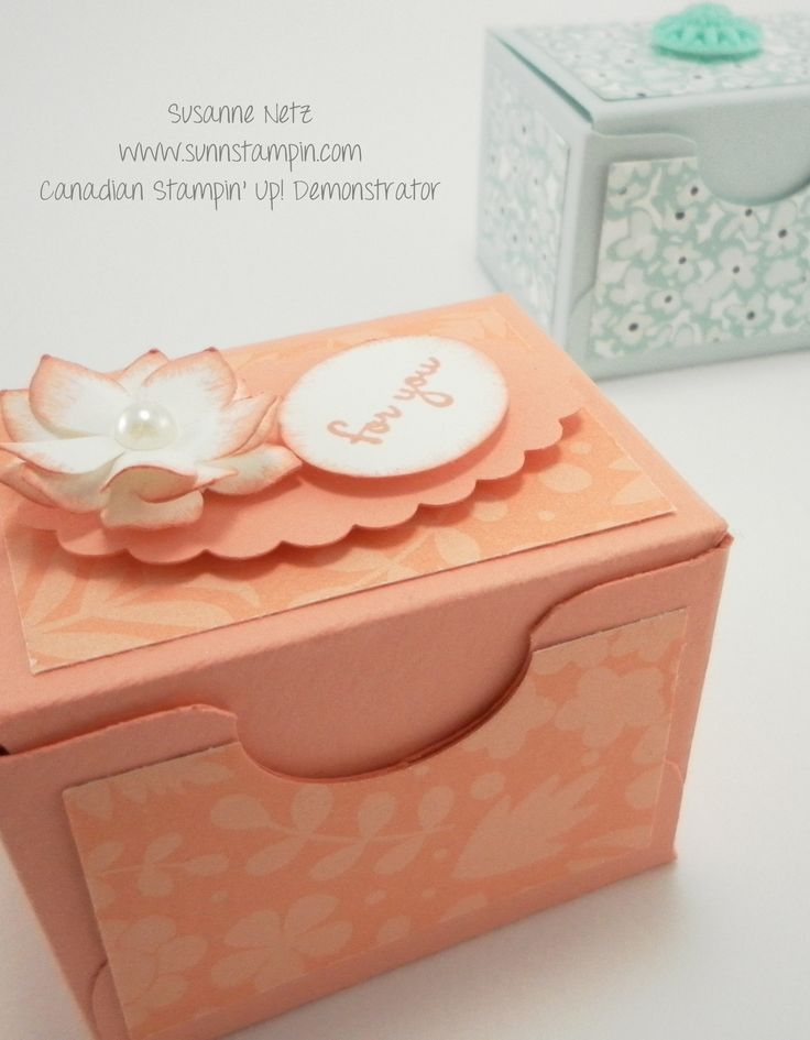 Stampin' Up! Mini box made from the Envelope Punch Board