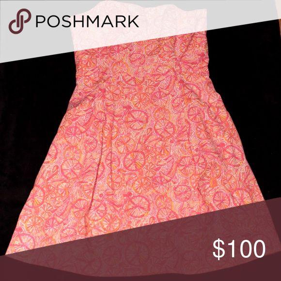 Lilly Pulitzer Strapless Dress in Ten Speed Beautiful strapless dress in Lilly's gorgeous pink & orange Ten Speed print! Lilly Pulitzer Dresses Strapless