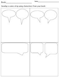 Great for showing dialogue between characters and also for creating comic strips/social stories!