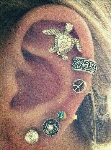 Ear cuff piercing