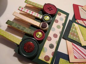 Clothespin Craft- magnets or string together to make card holder garland or wreath- from Candace Creations: MOPS Crafts