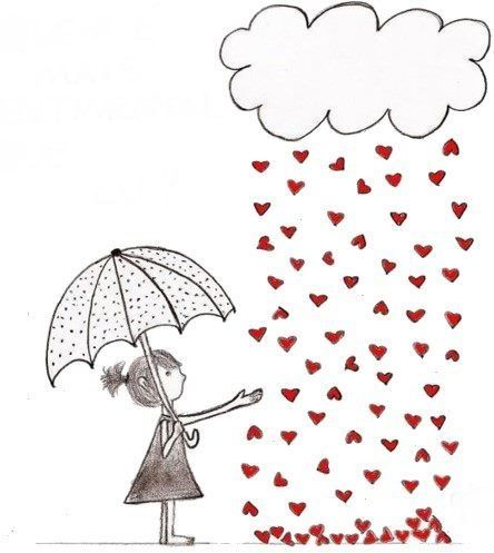 Lluvia de corazoncitos