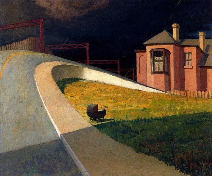 'Approaching Storm by Railway' - Jeffrey Smart  ((b.1921) http://25.media.tumblr.com/00644fb0d43bf8397054e4830cb7b0d1/tumblr_mhcg7jdwk31qd5zk2o1_1280.jpg