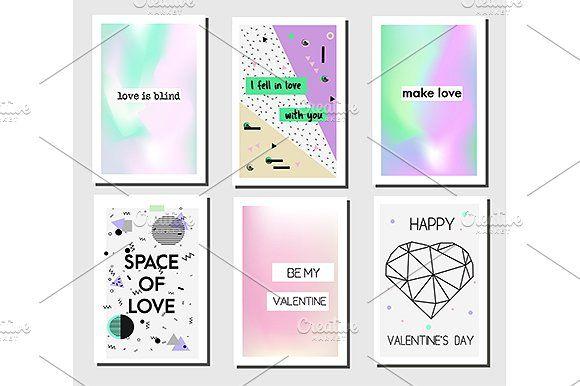 Romantic cards templates.Vector by KSU's Little Shop on @creativemarket