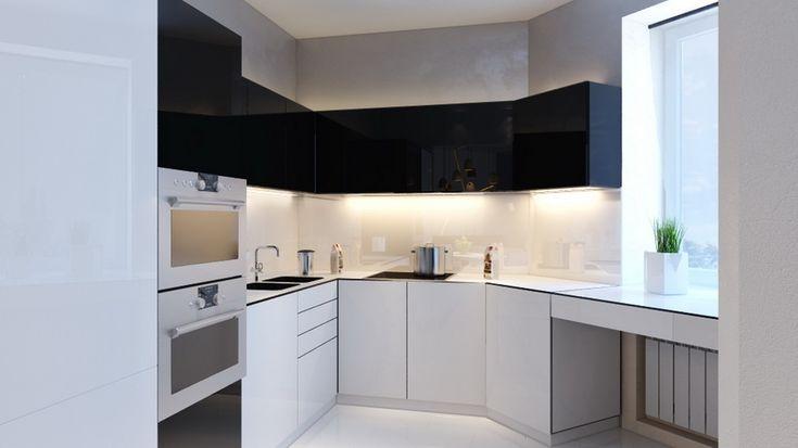 кухня в стиле минимализм, интерьер кухни, минимализм в интерьере, квартира в минимализме
