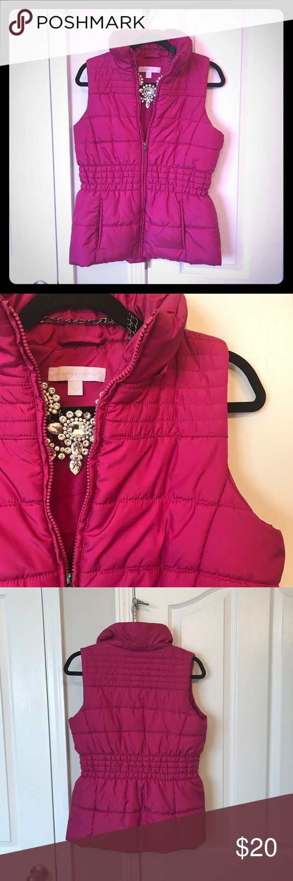 Pink Vest Perfect condition. Super cute! New York & Company Tops