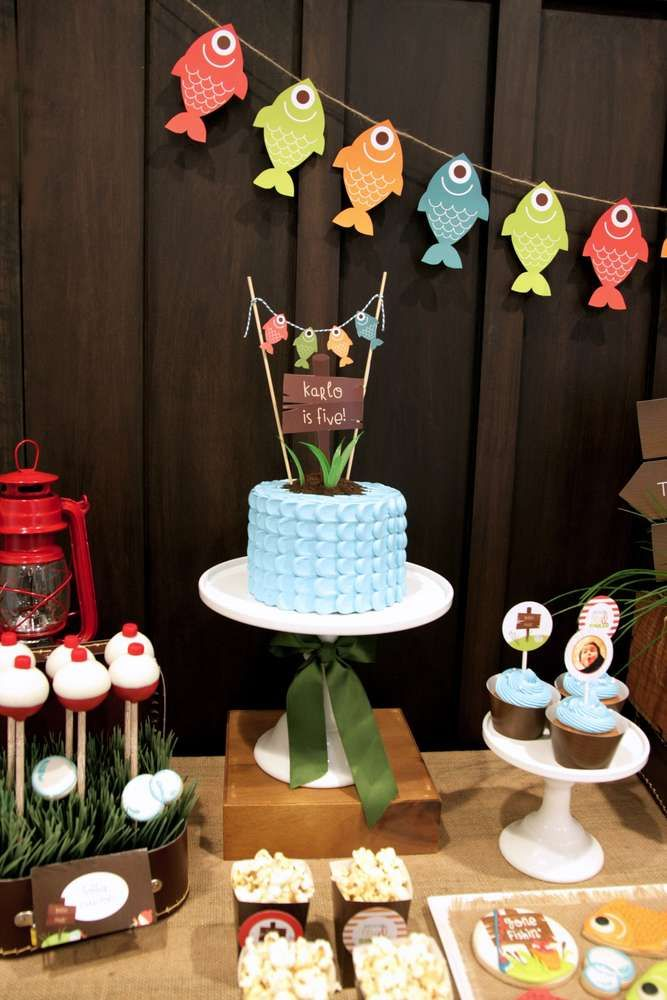Awesome Fishing Birthday Party!  See more party ideas at CatchMyParty.com!