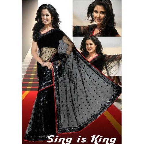 Katrina Kaif Designer Net Bollywood Style Saree